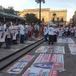 Potosinos marchan en protesta por desaparición de personas