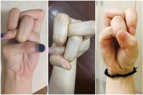 El reto chino de hacer un nudo con los dedos