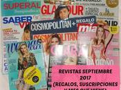 Revistas Septiembre 2017 (Regalos, suscripciones viene)