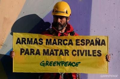 Armas marca España para matar civiles.