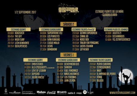 horarios festival gigante