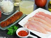 Receta solomillos pollo salsa chorizo
