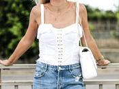 Culotte jeans white