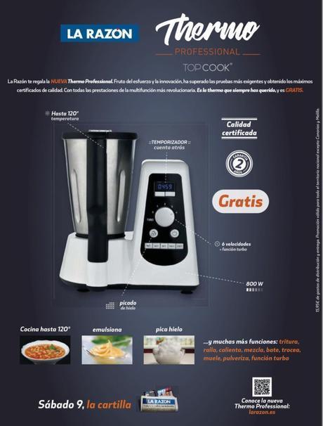 Thermo Professional, otro robot de cocina gratis con La Razón