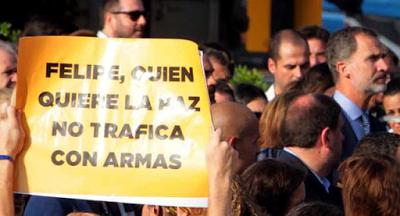 Barcelona repudia el terrorismo y el tráfico de armas con el reino Saudita.