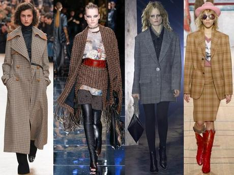tendencias de moda otoño invierno 2017 plaid