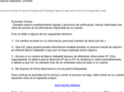 Campaña phishing suplantando Banco Sabadell