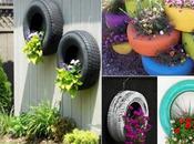 Reciclando neumáticos.