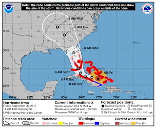 Huracán Irma: avance al Norte de Cuba [actualización del día]
