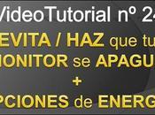 Videotutorial nº24 Cómo EVITAR APAGAR auto MONITOR OPCIONES ENERGÍA