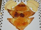 Triángulos manzana roja