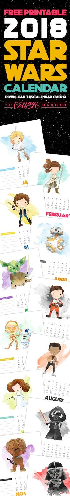 Calendario de STAR WARS ,2018  gratis