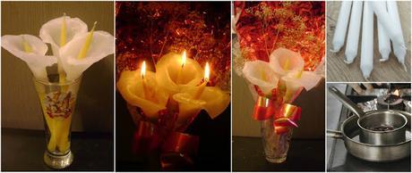 Aprende cómo hacer lindas flores con velas