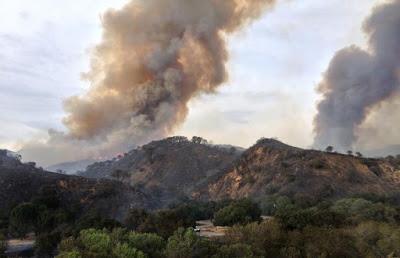 Volatilización de compuestos químicos en incendio