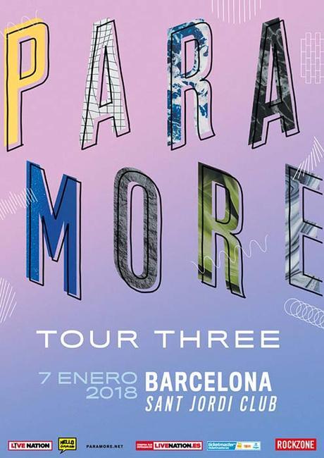 Paramore actuará en Barcelona el 7 de enero de 2018 ... Paramore Ticketmaster