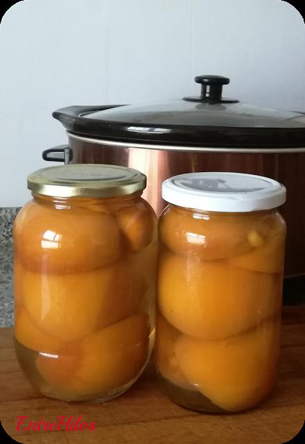 como hacer melocotones en almibar en la slow cooker