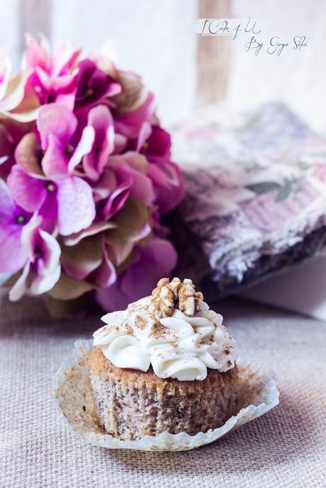 Cupcakes de Manzana y Canela con Nueces