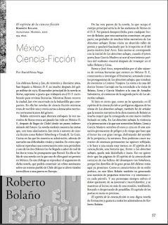 El espíritu de la ciencia-ficción, por Roberto Bolaño