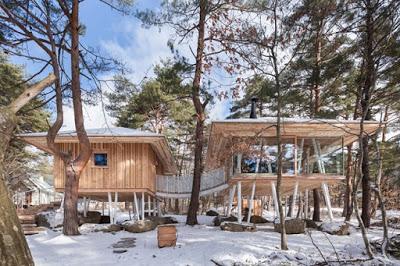 Cabaña de Madera Rustica en el Monte Bandai