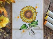 Copic Coloring: Sunflower Birthday Card
