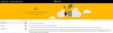 OUTLOOK NO FUNCIONA, HOTMAIL NO FUNCIONA