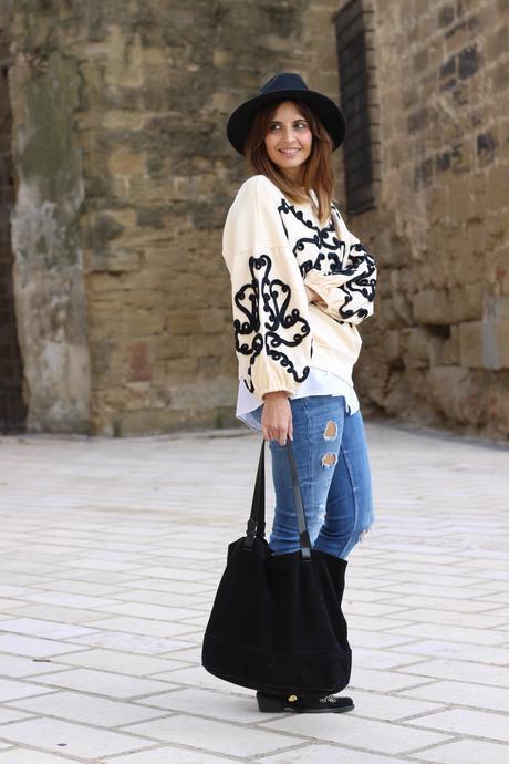 look sudadera zara olivia palermo blog de moda