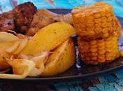 Pollo horno manzanas mazorcas