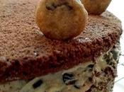 torta brownie relleno chocolate chip cookie