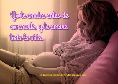 imagenes de bebes en el vientre con frases bonitas mama