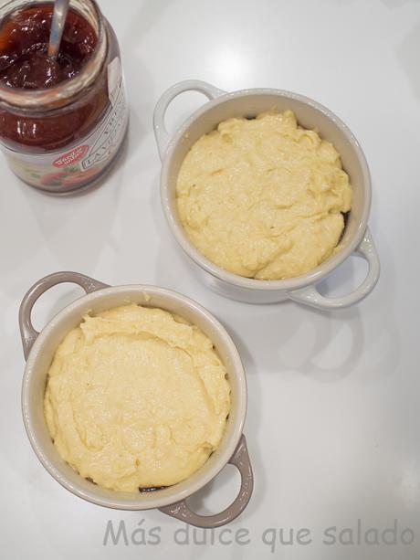 Bizcochitos de mermelada de fresa y coco