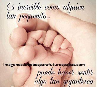 Cuatro Imagenes Con Frases De Papa Para Bebes En El Vientre Paperblog