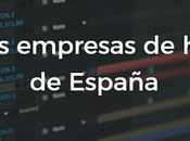 Mejores empresas hosting España