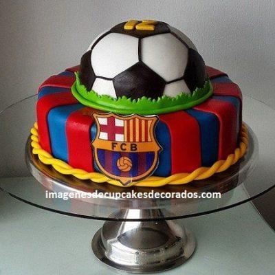 pasteles decorados con fondant para niños futbol