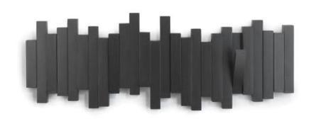 Decorando con el perchero de pared Sticks negro