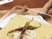Crema puerros bacalao
