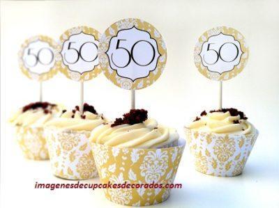 cupcakes decorados para 50 años imagenes
