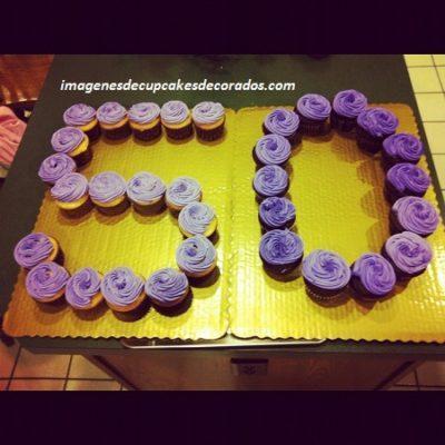 cupcakes decorados para 50 años mujer