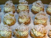 Lionesas nata montada chantilly (Pastelillos pasta Choux)