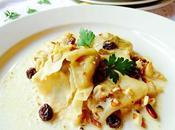 Tortellini queso nueces salsa frutos secos
