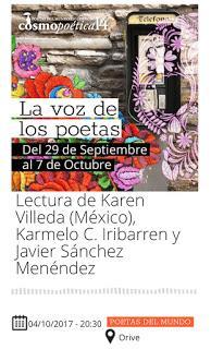 Este miércoles estaremos en Cosmopoética (Córdoba)