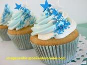 imagenes hermosa decoracion cupcakes para bautizo