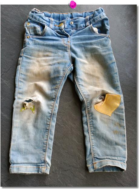Pantalones DIY destrozados