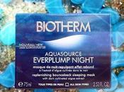 AQUASOURCE EVERPLUMP NIGHT, Piel majestuosa Biotherm.