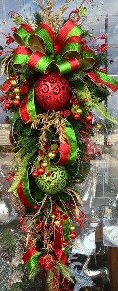 Tutorial haz moños decorativos para decorar la puerta en esta navidad