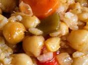Garbanzos arroz verduras