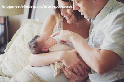 fotos tiernas de bebes con sus padres papa