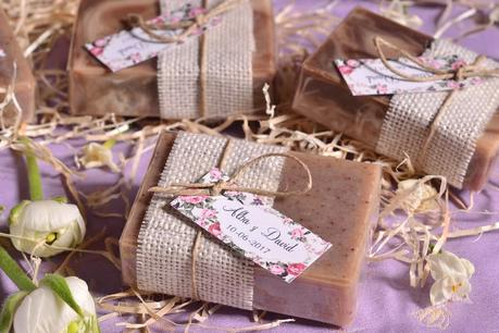 Detalles para bodas jabones personalizados