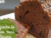 Bizcocho cacao, maca lúcuma, gramo azúcar edulcorantes