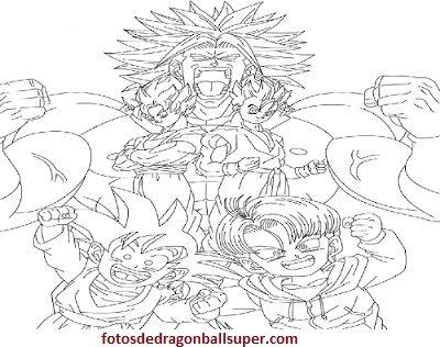 Dibujos de personajes de dragon ball z para colorear en ssj - Paperblog