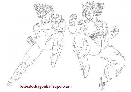 4 Imagenes De Goku Y Vegeta Para Colorear En Super Sayayin 2